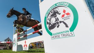 Rosalind Canter (GBR) riding Allstar B in the Show Jumping phase of the 2017 Mitsubishi Motors  Badminton Horse Trials